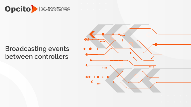 Broadcasting events between controllers